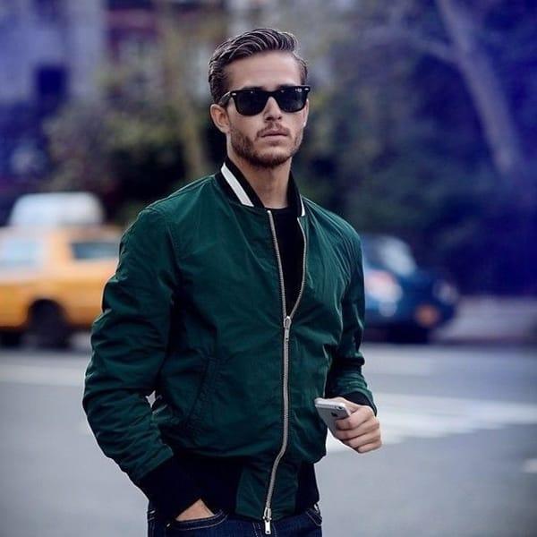 С чем носить куртку-бомер
