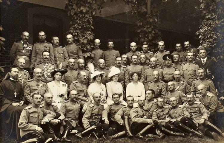 Стрижка офицеров первой мировой