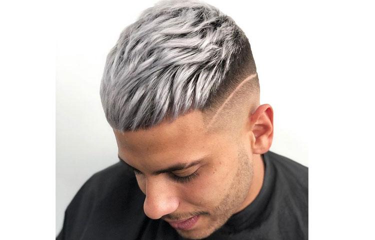 Мужское окрашивание волос на короткие волосы