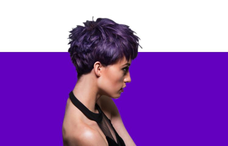 Окрашивание волос в фиолетовый цвет волос: